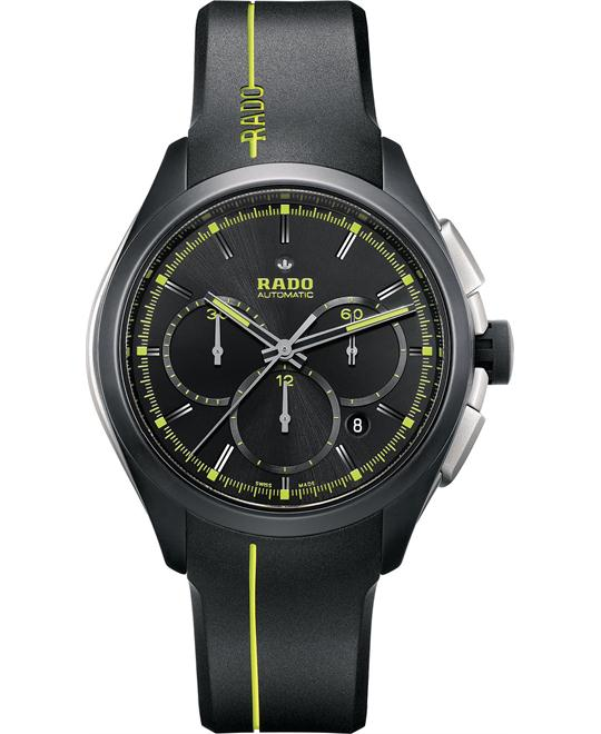 Rado Men's Swiss Automatic Chronograph Rubber Watch 45mm