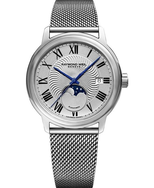 đồng hồ Raymond Weil Maestro Automatic Silver Dial Men's 40mm