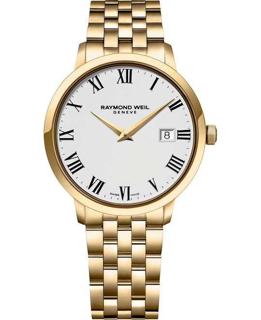 RAYMOND WEIL Toccata Swiss Gold Watch 39mm