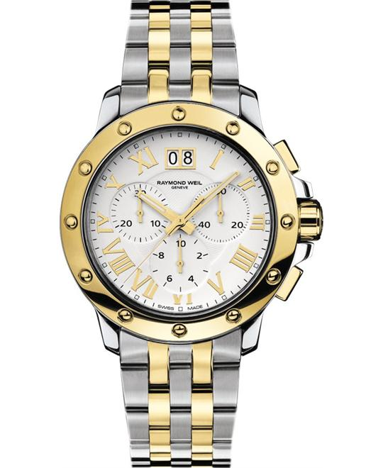 Raymond Weil Men's Tango Gold and Steel Watch 42mm