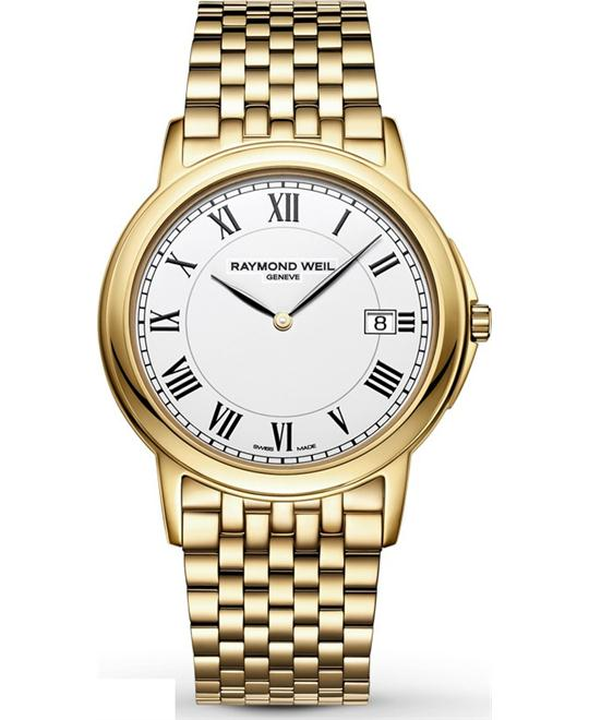 RAYMOND WEIL Tradition Yellow Gold PVD Watch 39mm