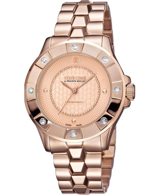 Roberto Cavalli Diamond Bezel Watch 36