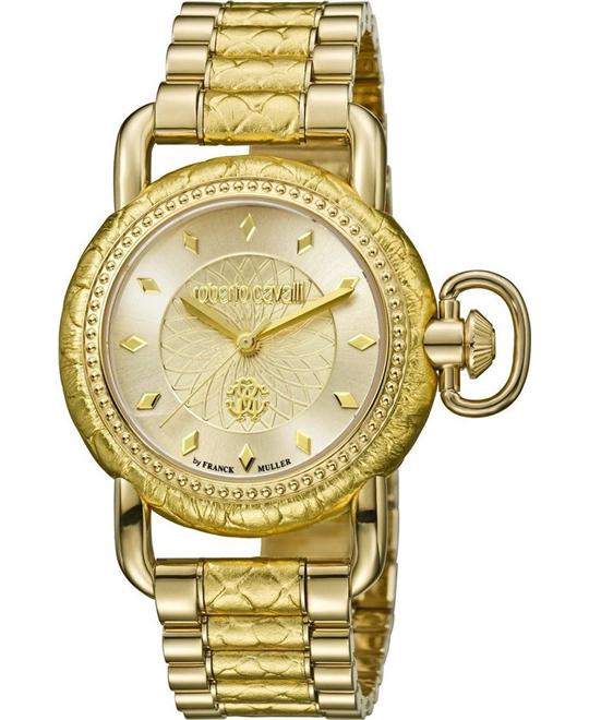 Roberto Cavalli Moving Crown Champagne Watch 36mm