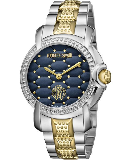 Roberto Cavalli Quilted Blue Watch 36mm