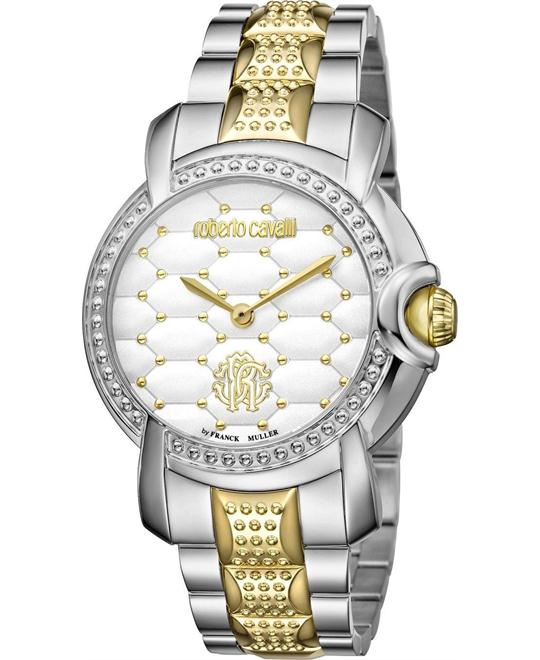 Roberto Cavalli Quilted White Watch 36mm