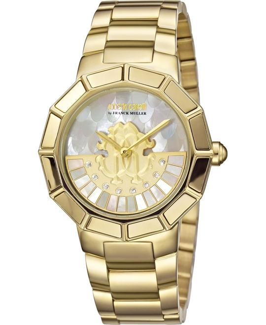 ROBERTO CAVALLI Rotating Dial Champagne Watch 37mm