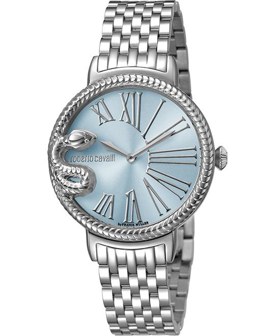 Roberto Cavalli Snake Ice Blue Watch 34