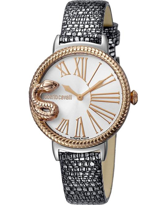 Roberto Cavalli Snake Silver Watch 34mm