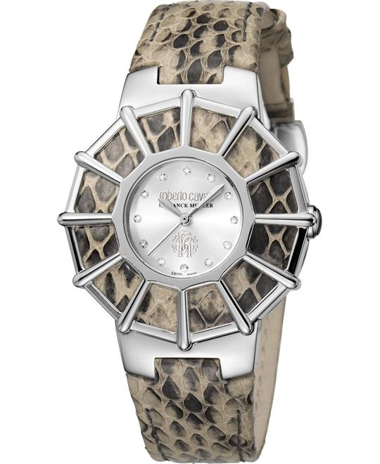 Roberto Cavalli Webbing Silver Watch 37.5mm