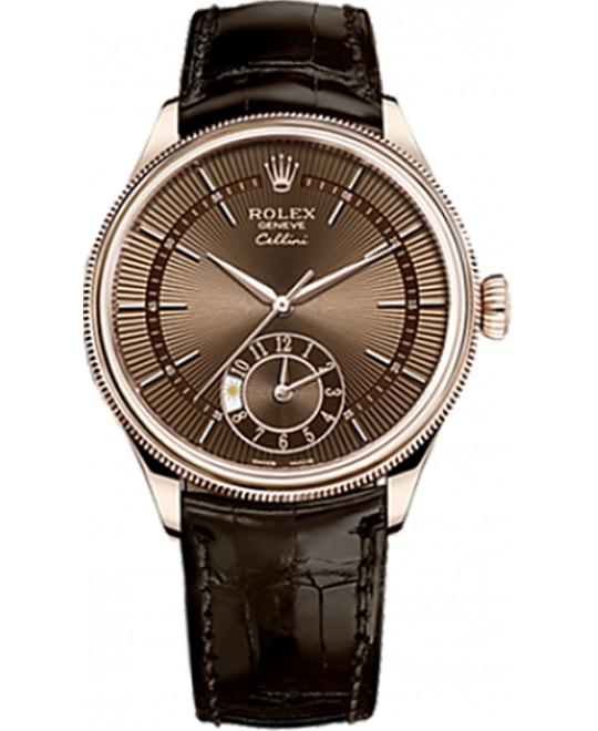 ROLEX CELLINI DUAL TIME 50525-0015 WATCH 39MM