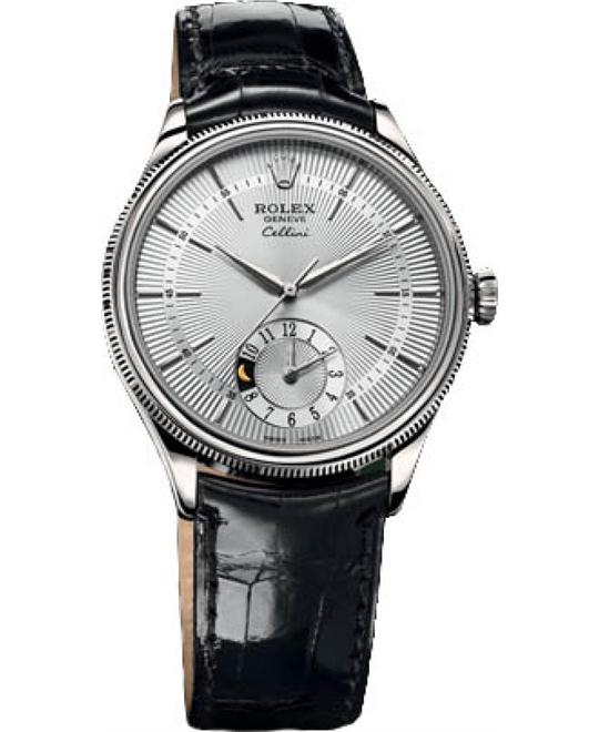 ROLEX CELLINI DUAL TIME 50529-0006 WATCH 39MM