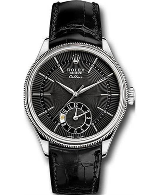 Rolex CELLINI DUAL TIME 50529-0007 WATCH 39MM