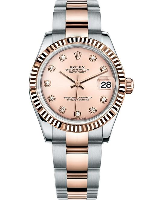Rolex m178271-0045 Datejust 31 Rose Gold Watch 31mm