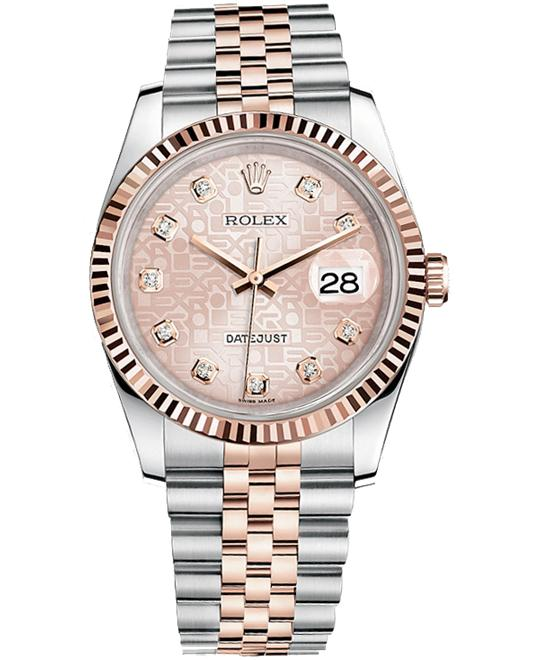 Rolex DATEJUST PINK DIAL Watch 36