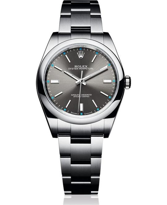 ROLEX OYSTER PERPETUAL 114300 Dark Rhodium Watch 39mm