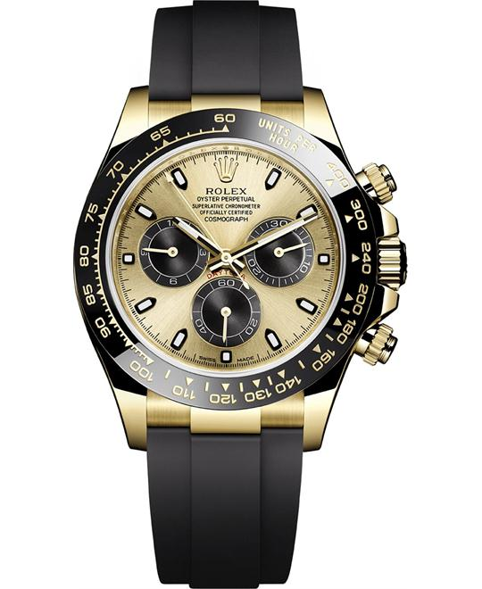 Rolex Oyster Perpetual Champagne Watch 40mm