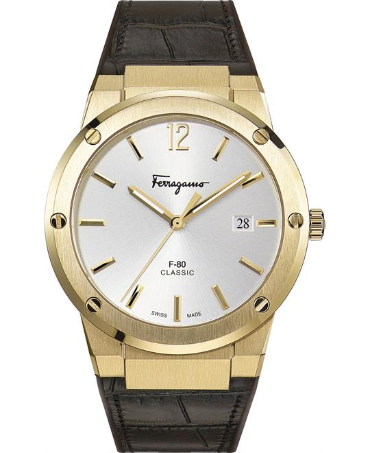 Salvatore Ferragamo F-80 Brown Watch 41mm