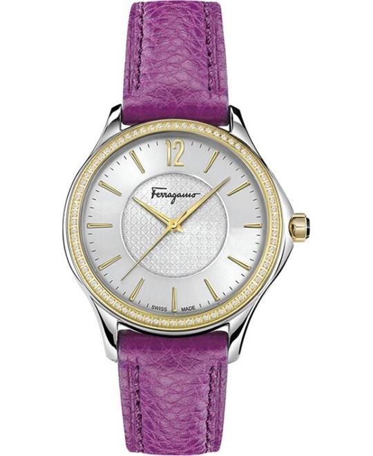 Salvatore Ferragamo FFV030016 Time' Swiss Watch 33mm