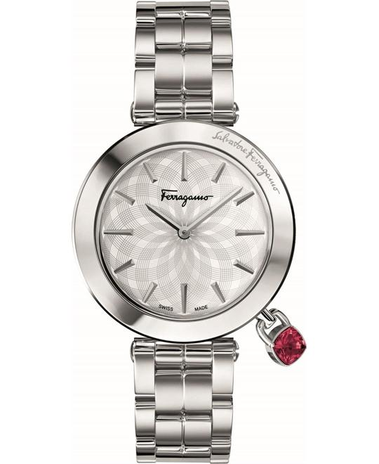 Salvatore Ferragamo FIC020015 Intreccio Silver Watch 36mm