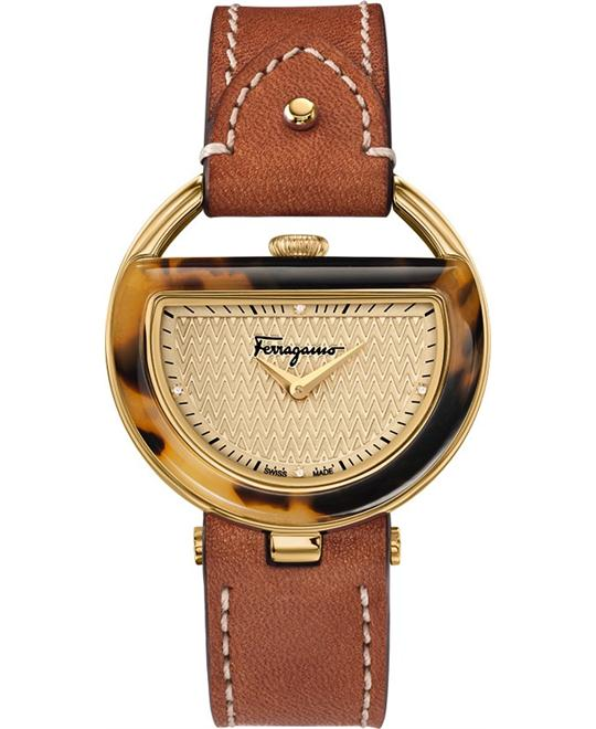 đồng hồ Salvatore Ferragamo FG5020014 Buckle Beige Diamond 37mm