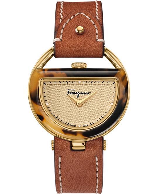 đồng hồ Salvatore Ferragamo FG5020014 Buckle Beige Diamond 37mm