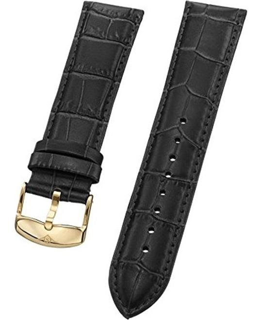 Stuhrling Original Black Leather Strap 22mm