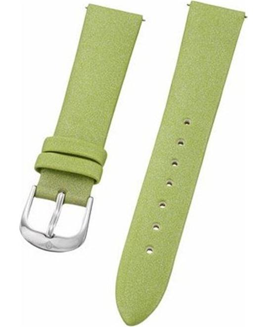 Stuhrling Original green satin twill covered leather strap 18mm