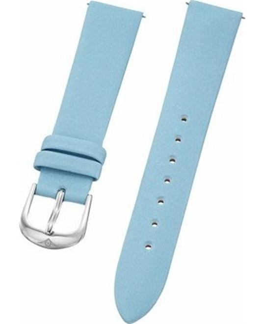Stuhrling Original ladies light blue satin twill covered leather strap 18mm