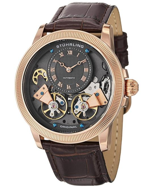 Stuhrling Original 368B.3345K54  Automatic Skeleton  Watch 45mm