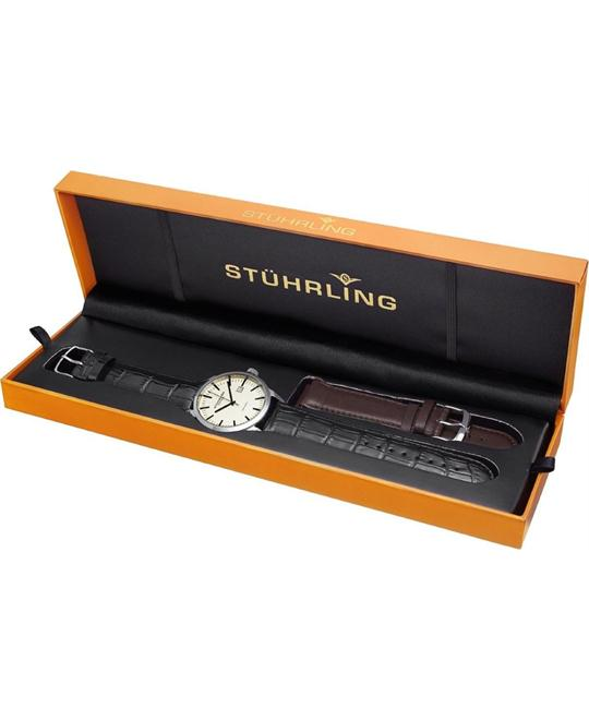 Stuhrling Original Men's 555A.03 Classi Swiss Watch Set 42mm