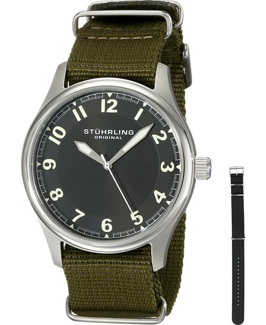 Stuhrling Original Men's 741.SET01 Aviator Watch 43mm