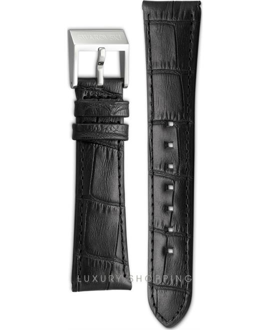 Swarovski Graceful Mini Black Leather Strap 14mm