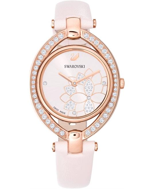 Swarovski Stella Leather Ladies Watch 29mm