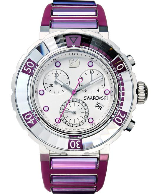 Swarovski Women's Swiss Chronograph Rubber 40mm