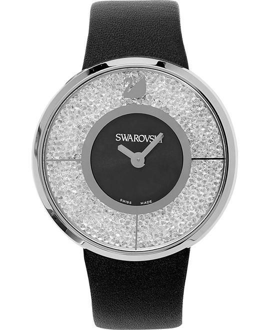 Swarovski Women's Swiss Calfskin Leather 40mm