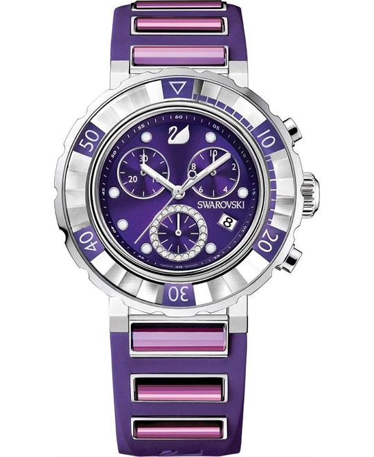 Swarovski Women's Swiss Swarovski Rubber 40mm