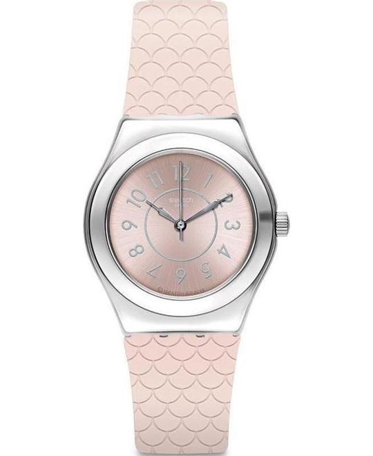 SWATCH CoCo Pink Dial Ladies Watch 33mm