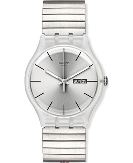Swatch Resolution Silver Dial Watch 41mm