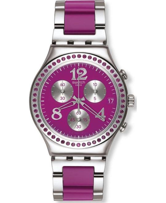 Swatch Secret Thought Raspberry Women's Chronograph Watch - 40mm