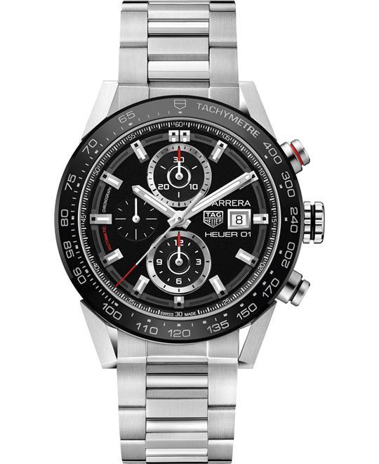 đồng hồ nam automatic Tag Heuer Carrera CAR201Z.BA0714 Calibre Heuer 01 43mm
