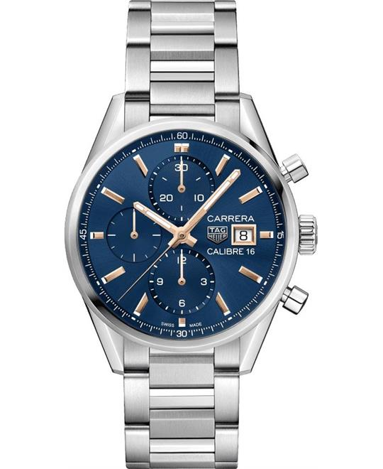 đồng hồ thể thao Tag Heuer Carrera CBK2115.BA0715 Calibre 16 Watch 41mm