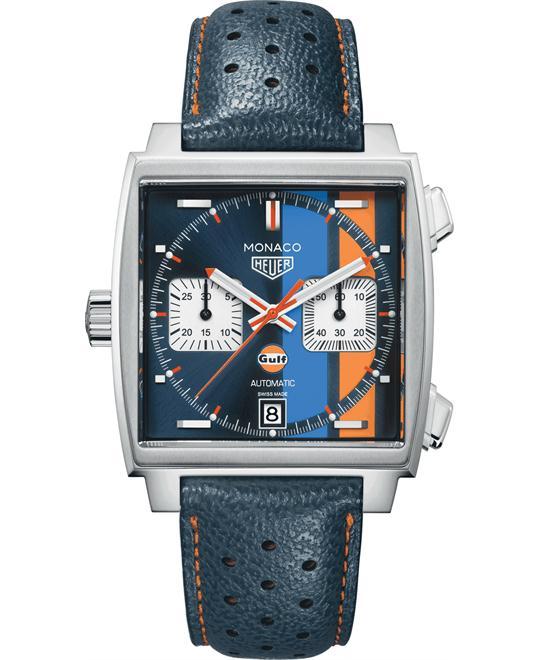 đồng hồ nam mặt vuông thể thao Tag Heuer Monaco CAW211R.FC6401 Calibre 11 39mm