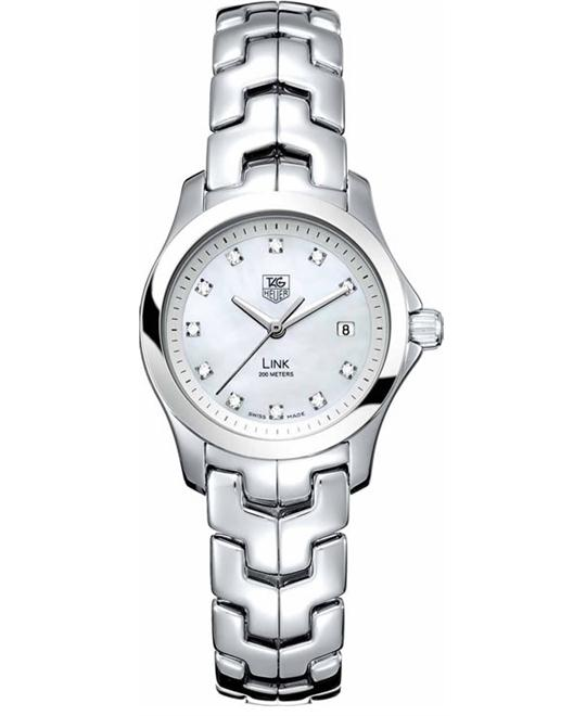 TAG Heuer WJF1317.BA0572 Link Diamond Accented Watch 27mm