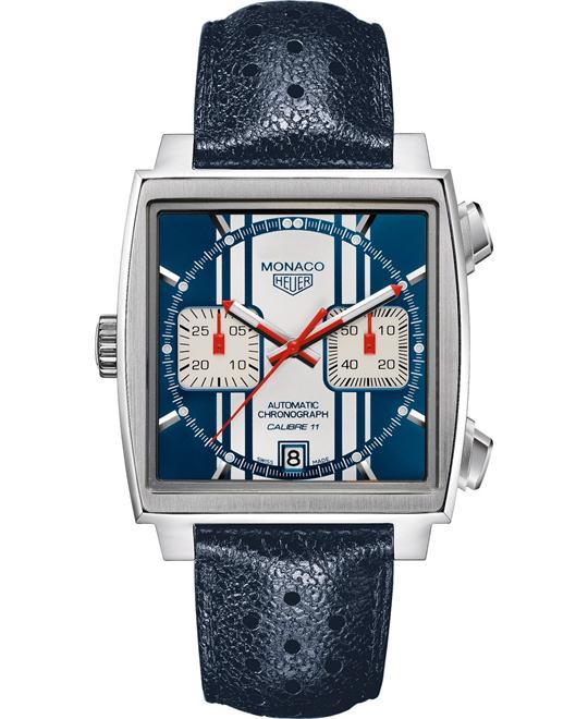 đồng hồ mặt vuông TAG Heuer Monaco CAW211D.FC6300 Automatic Watch 39mm
