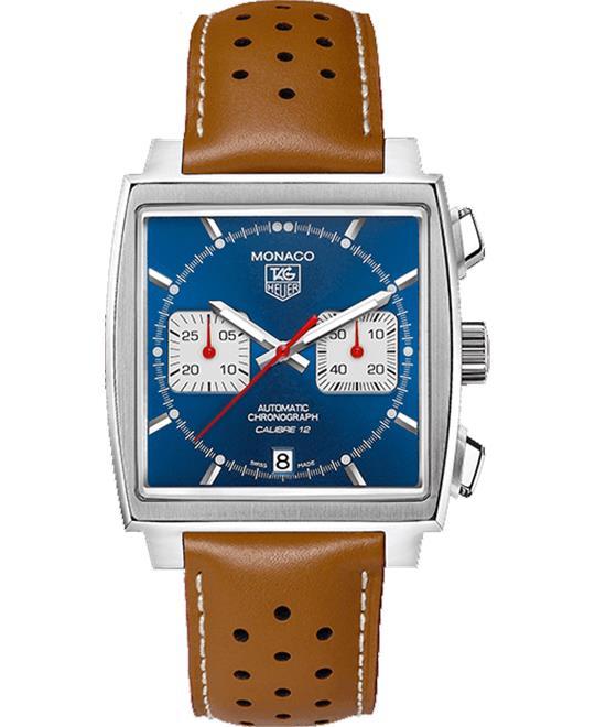 đồng hồ nam mặt vuông thể thao Tag Heuer Monaco CAW2111.FC6255 Calibre 12 Watch 39mm