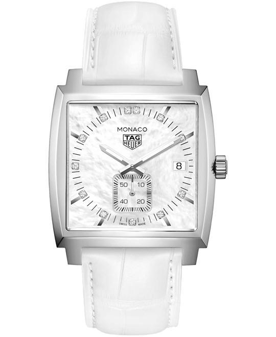 đồng hồ nam mặt vuông thể thao Heuer Monaco WAW131B.FC6247 Quartz 37mm
