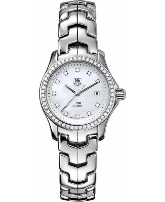 TAG Heuer WJF1319.BA0572 Link Diamond Watch 27mm