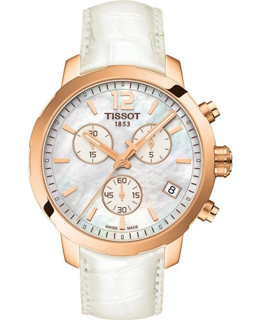 dong ho TISSOT Quickster T095.417.36.117.00 Pearl Watch 42mm
