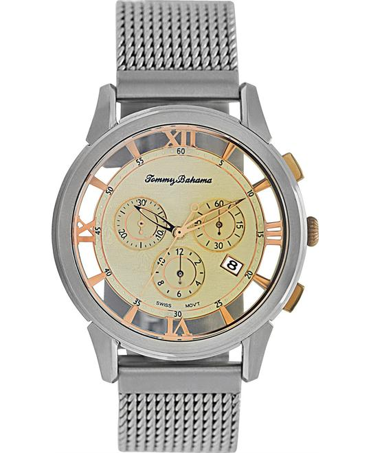 Tommy Bahama Watch, Men's Swiss Chronograph Mesh 42mm