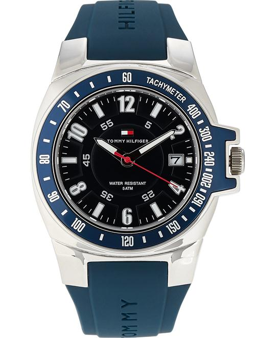 TOMMY HILFIGER Navy Blue Rubber Watch 40mm